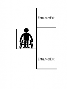 wheelchair platform lift evacuation